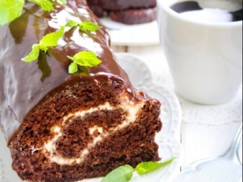 Čokoladni rolat sa krem filom