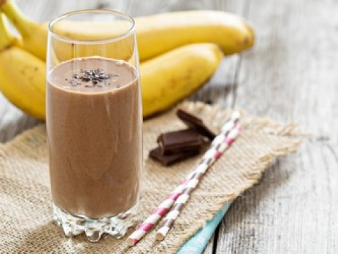 Smuti od tamne čokolade i banane